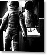 The Astronaut And The Bathroom Metal Print