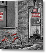 Irony In The Alley Metal Print