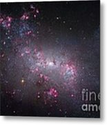 Irregular Galaxy Ngc 4449, Hubble Image Metal Print