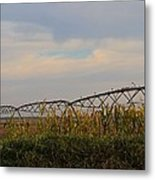 Irrigation On The Farm Metal Print by Dan Sproul