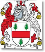Irvine Coat Of Arms Irish Metal Print