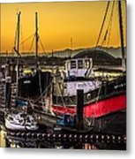 Irvine Harbour At Sunset Metal Print