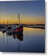 Irvine Harbour Scotland At Dusk Metal Print