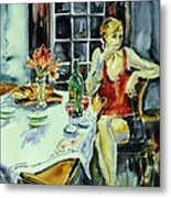 Isabelle From Paris -    Metal Print by Trudi Doyle