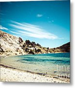 Isla Del Sol On The Titicaca Lake Metal Print