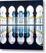 Islamic Architecture Of Abu Dhabi Grand Mosque - Uae Metal Print