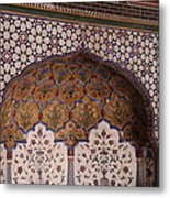 Islamic Geometric Design At The Shahi Mosque Metal Print