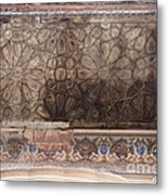 Islamic Geometrical Design On The Underside Of The Roof Of The Umar Hayat Mahal Metal Print