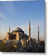 Islamic Mosque At Sunset Istanbul Metal Print by Mark Thomas