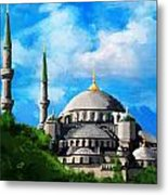 Islamic Mosque Metal Print by Catf
