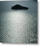Lugu Lake Island And Ripples China Metal Print