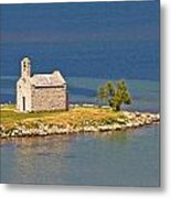 Island Church By The Sea Metal Print by Brch Photography