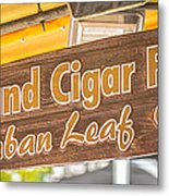 Island Cigar Factory Key West - Panoramic - Hdr Style Metal Print