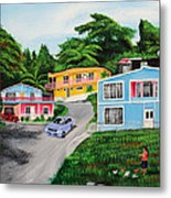 Island Hillside Living Metal Print