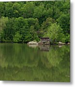 Island House On New River - West Virginia Metal Print