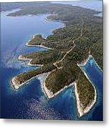 island Hvar from air Metal Print