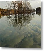 Island In The Clouds Metal Print