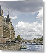 Island In The Seine Metal Print