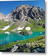 Island Lake And U.s. Grant Peak Metal Print
