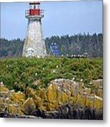 Island Lighthouse In Nova Scotia Metal Print