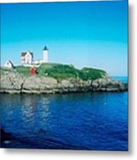 Island Lighthouse Metal Print