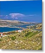 Island Of Pag Aerial Bay View Metal Print