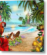 Island Of Palms Metal Print