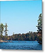 Island On The Fulton Chain Of Lakes Metal Print