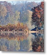 Island Reflected In The Potomac River Metal Print