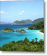 Island Shore Trunk Bay Metal Print