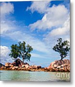 Islands And Clouds, The Seychelles Metal Print