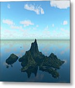 Isle And Sea... Metal Print