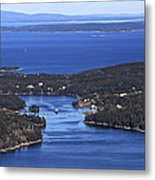 Isle Au Haut Harbor Metal Print by Dave Cleaveland