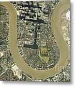Isle Of Dogs, Aerial Photograph Metal Print
