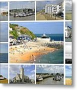 Isle Of Wight Collage - Plain Metal Print
