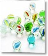 Isolated Marbles Metal Print