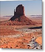 Isolated Mitten Metal Print
