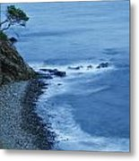 Isolated Tree On A Cliff Overlooking A Metal Print