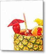 Isolated Tropical Drink Metal Print