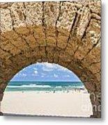 Israel Caesarea Aqueduct  Metal Print
