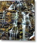 Issaqueena Falls With Rainbow Metal Print