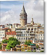 Istanbul Cityscape And Galata Tower Metal Print