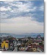Istanbul Panorama Hdr Metal Print