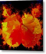 It Crawled Out Of The Leaf Pile Metal Print
