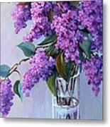It Is Lilac Time Metal Print