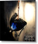 It Is Red And Blue Metal Print