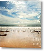 It Was A Sunny Day At The Beach From The Book My Ocean Metal Print