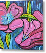 It Was Pink And Blue Metal Print