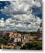 Italian Architecture In Rome City View Metal Print