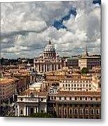 Italian City Rome Overview Metal Print